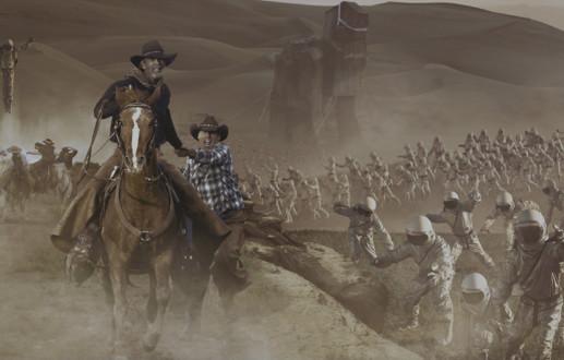 Dash For The Terraform: An Atomic Cowboy Mural